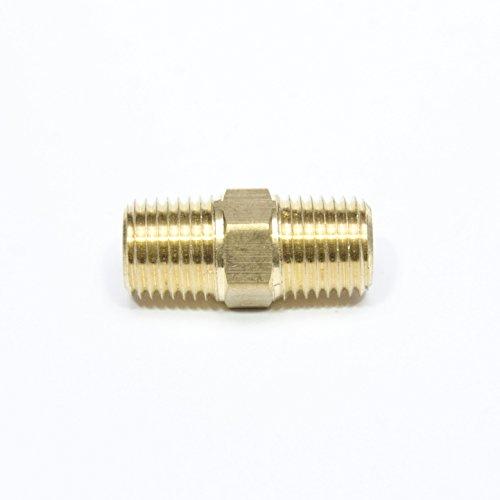 "FasParts Brass Hex Pipe Nipple 1/4"" NPT Male - 1/4"" NPT Male MPT MIP"