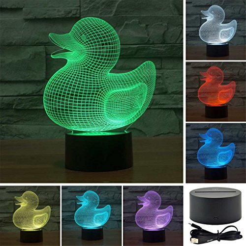Duck Creative Creature 3D Acrylic Visual Home Touch Table Lamp