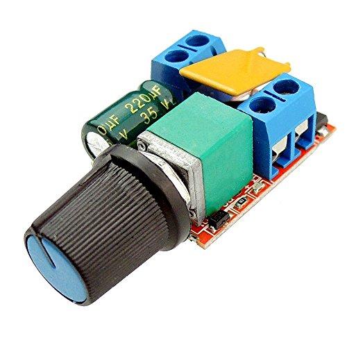 SODIAL(R) Mini DC Motor PWM Speed Controller 3V 6V 12V 24V 35VDC 90W 5a DC Motor Speed Control Switch