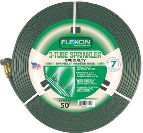 Flexon 50-Foot Three Tube Sprinkler Hose