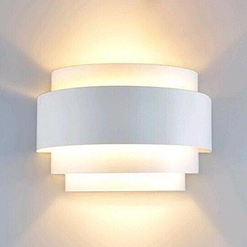 LightInTheBox Modern/Contemporary Wall Sconces 1 Light Wall Light Metal Shade Glass Decoration E26/E27 Bulb Base Painting Finish 110-120V White Color