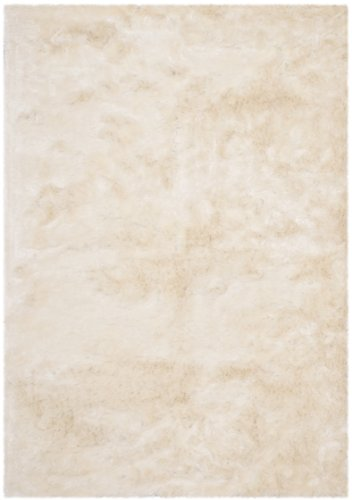Safavieh Paris Shag Collection Ivory Polyester Area Rug (5' x 7')