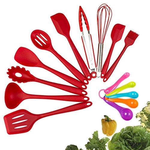 Silicone Kitchen Utensil Set, Evantek 10 Piece Kitchen Tool Set, Cooking Utensils Set