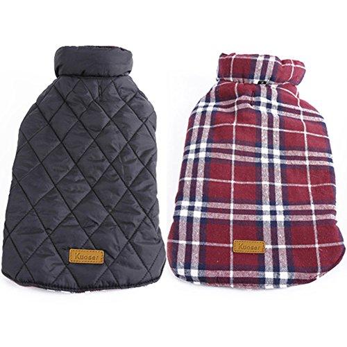 Plaid Dog Vest Winter Coat Warm Dog Apparel