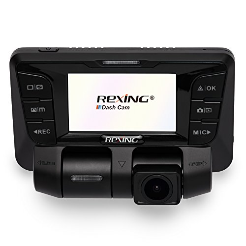 Rexing V2 Uber Dash Cam Dual Channel 1080p+1080p Full HD 170+170 Degrees Wide Angle