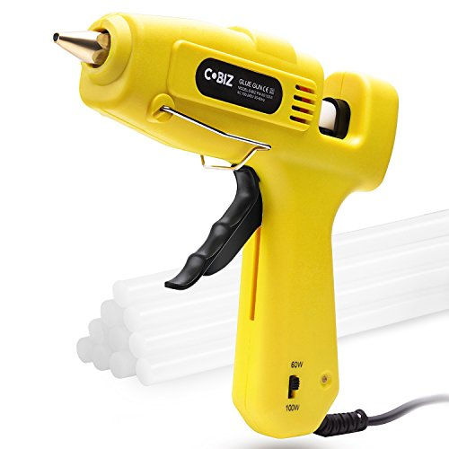 Hot Glue Gun, Cobiz Full Size (Not Mini) 60/100W Dual Power High Temp