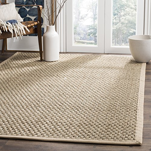 Safavieh Natural Fiber Collection Basketweave Natural and Beige Seagrass Area Rug (5' x 8')