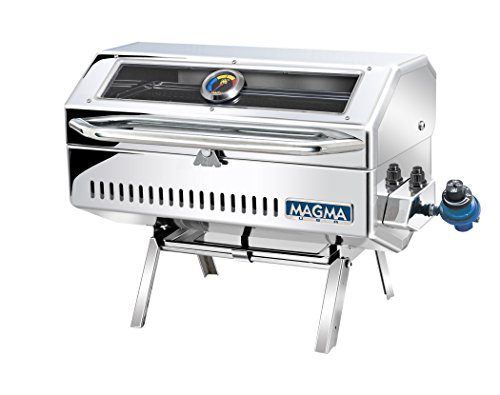 Magma Products, Newport 2 Infra Red Gourmet Series Gas Grill, Polished Stainless Steel