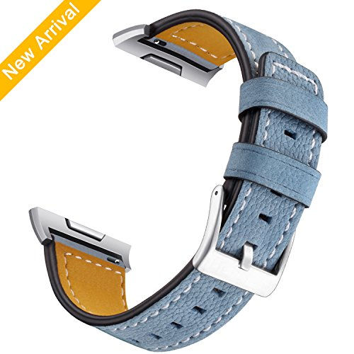 Hotodeal For Fitbit Ionic Genuine Leather Bands