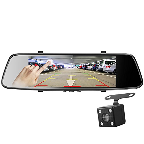 Pruveeo D700 7-Inch Touch Screen Backup Camera Dash Cam Front and Rear Dual Channel