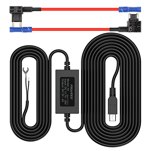 Pruveeo Hard Wire Kit for Dash Cam with 2 Fuse Tap Cable