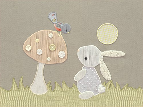 Oopsy Daisy Fine Art for Kids Vintage Bunny and Bird Canvas Wall Art