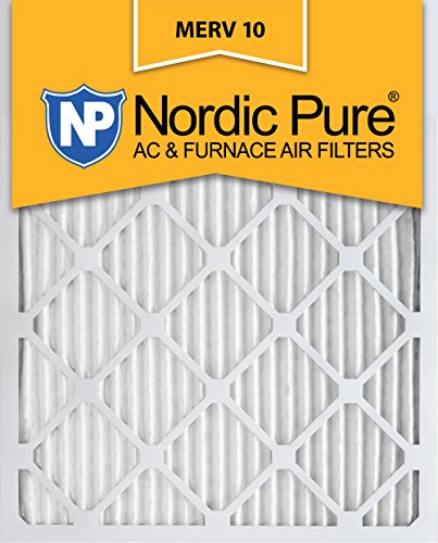 Nordic Pure 16x20x1 MERV 10 Pleated AC Furnace Air Filter, Box of 6