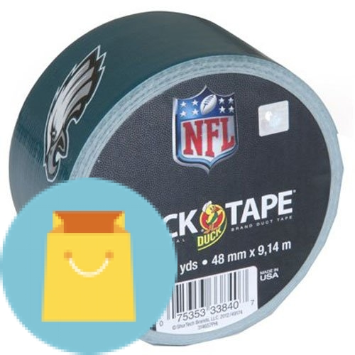 Duck Brand Philadelphia Eagles NFL Team Logo Duct Tape, 1.88-Inch by 10 Yards, Single Roll