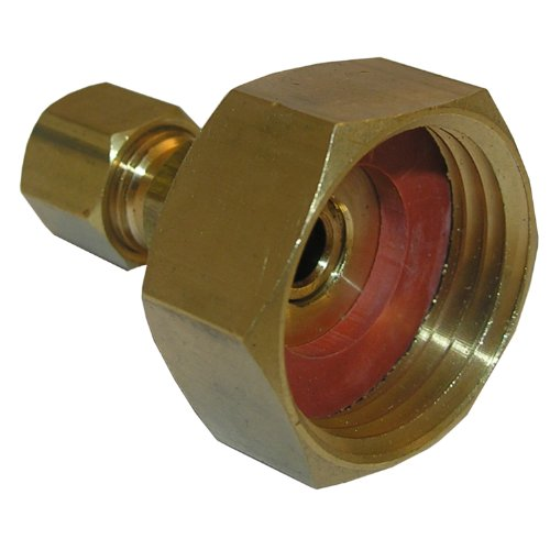 LASCO 3/4-Inch Female Garden Hose by 1/4-Inch Compression Brass Adapter