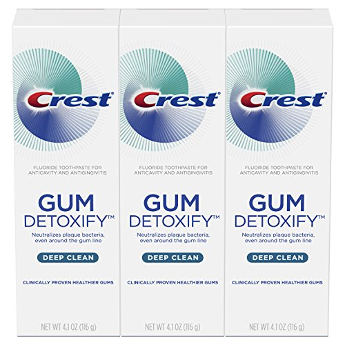 Crest Gum Detoxify Deep Clean Toothpaste Triple Pack, 4.1 Ounce (Pack of 3)