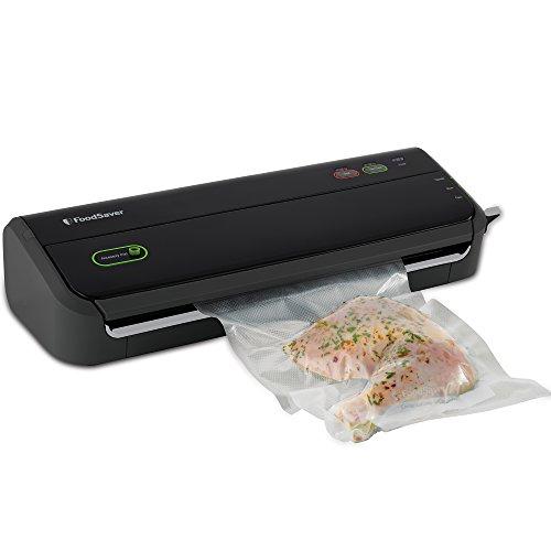 FoodSaver Vacuum Sealing System with Starter Bag/Roll Set, Black
