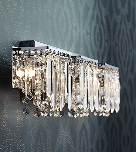 Brilliant Possini Euro Design Crystal Strand 25 3 4 Wide Bath Light Home Interior And Landscaping Staixmapetitesourisinfo