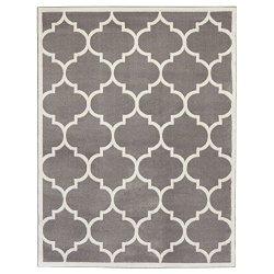 Ottomanson Paterson Collection Contemporary Moroccan Trellis Design Lattice Area Rug