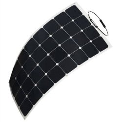 HQST 100 Watt 12V Monocrystalline Lightweight Solar Panel for RV/Boat/Other Off Grid Applications