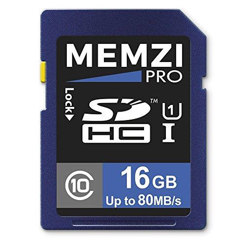 MEMZI PRO 16GB Class 10 80MB/s SDHC Memory Card for Kodak PixPro AZ651, AZ526, AZ525, AZ522, AZ521, AZ501, AZ422, AZ421, AZ401, AZ365, AZ362, AZ361, AZ252, AZ251 Digital Cameras