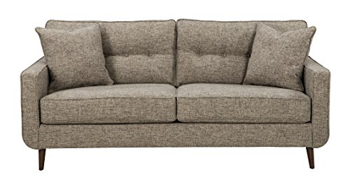 Benchcraft Dahra Contemporary Upholstered Sofa - Jute Gray