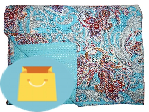Bhavya International Cotton Kantha Quilt Indian Handmade