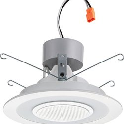 "Lithonia Lighting 6"" Dimmable LED Retrofit Module with Integrated Bluetooth Speaker, 4000K 