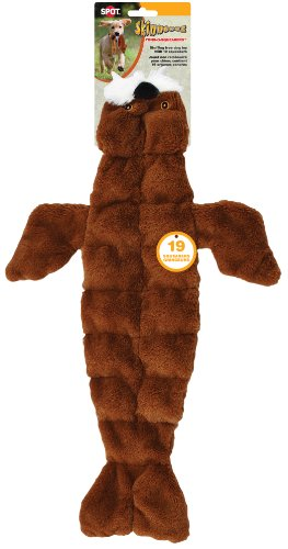 Ethical Pets Skinneeez Tons of Squeakers Walrus Dog Toy, 21-Inch