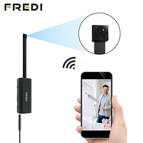 Hidden camera,FREDI Spy Camera 720P Wireless WiFi IP Cameras Home/Office Security Mini Portable Covert Nanny Cam works for iPhone ios/Android mobilephone PC