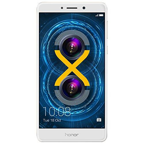 Huawei Honor 6X Dual Camera Unlocked Smartphone, 32GB Gold