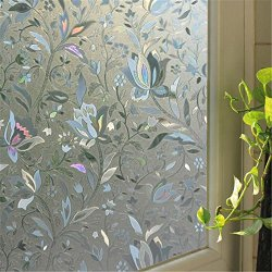 BigBig Home 3D Effects Self-Adhesive Electrostatic Toilet Balcony PVC Window Film,3 Sizes Available.(23.6*72 inches)