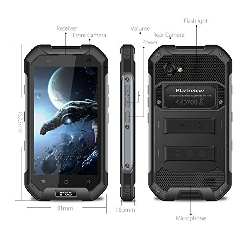 Unlocked Cell Phone, Blackview BV6000S Rugged Smartphone - 4G Android