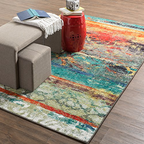 Mohawk Home Strata Eroded Distressed Abstract Printed Area Rug