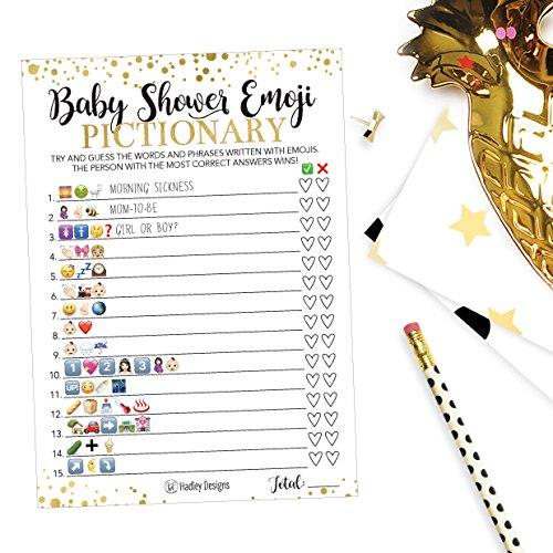 25 Emoji Pictionary Baby Shower Games Ideas For Men, Women ...