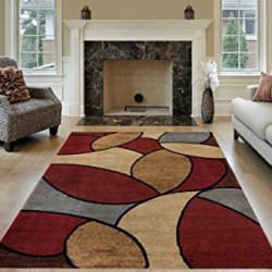 Maxy Home Pasha Oval Circles Multicolor 3 ft. 3 in. x 5 ft. Area Rug