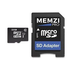 MEMZI PRO 32GB Class 10 90MB/s Micro SDHC Memory Card with SD Adapter for Samsung Galaxy J1 Series Cell Phones
