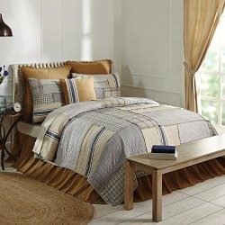 Mill Creek King Quilt, 95 x 105, Farmhouse Style, Country Quilted Bedding