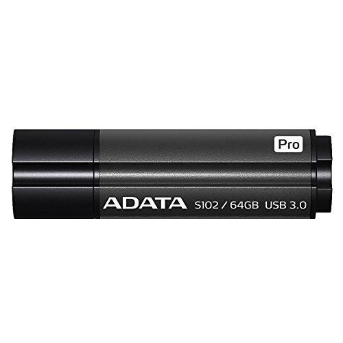 ADATA Superior Series S102 Pro 64 GB USB 3.0 Flash Drive - Titanium