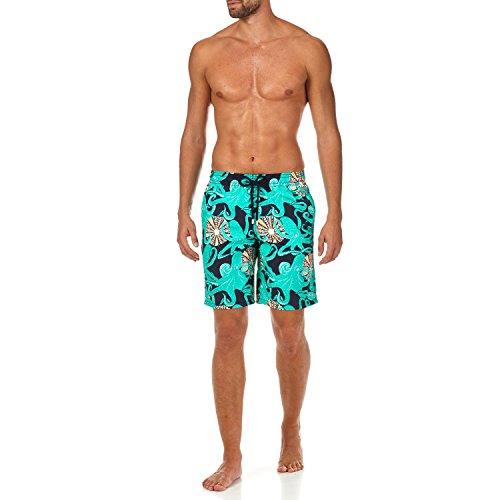 Vilebrequin Octopussy et Coquillages Long Cut Swim Shorts - Men - Navy - XL