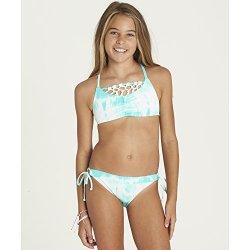 Billabong Big Girls' Peace 4 U Crossback Bikini Swim Set