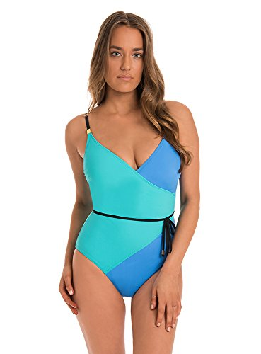 Amoressa by Miraclesuit Women's One Piece Surplice Swimsuit Pool Side