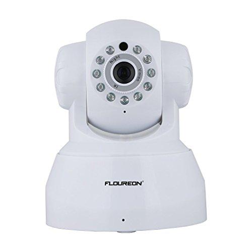 FLOUREON 720P Wireless IP Security Camera ONVIF WIFI IP Camera House Security Monitor Pan/Tilt 1.0 Megapixel Night Version 10M IR Distance (720P IP Camera)