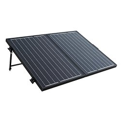 ECO-WORTHY 100 Watt 12V 12Volt Off Grid Monocrystalline Portable Foldable Solar Panel Suitcase with Charge Controller