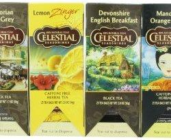 Celestial Seasonings Herbal and Black Tea Variety Pack, (Pack of 6)