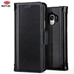 Belk Galaxy S9 Wallet Case, Black