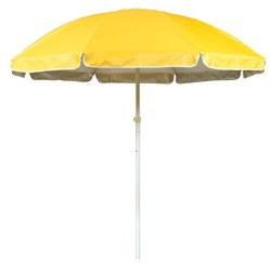6.5' Portable Beach and Sports Umbrella by Trademark Innovations (Yellow)
