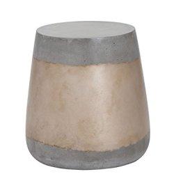 Sunpan Modern Aries Side Table - Concrete - Gold