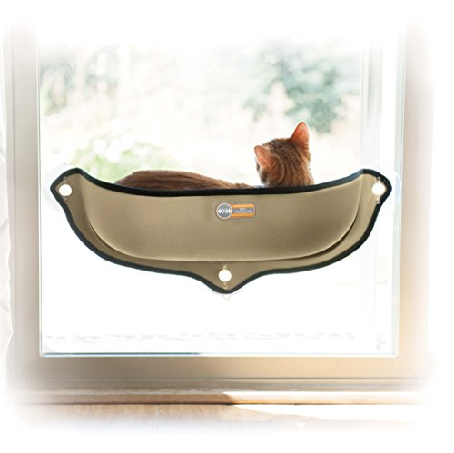 "K&H Pet Products EZ Mount Window Bed Kitty Sill Tan 27"" x 11"""