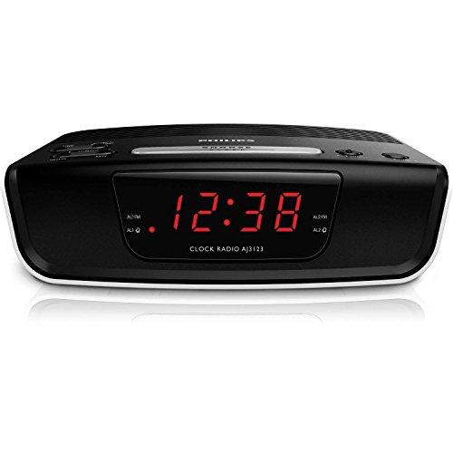 Philips AJ3123 FM Digital Tuning Alarm Clock Radio 110-240V (European Cord)
